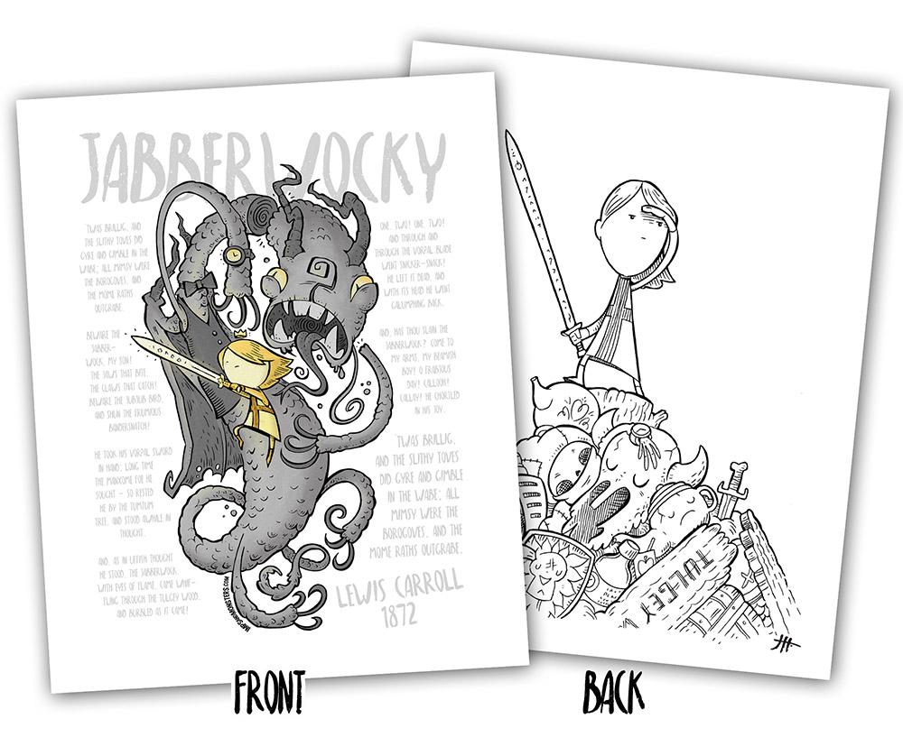Jabberwocky: A Nonsense Coloring Book + Bonus Print Set - Imps and ...